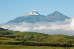 Cotopaxi - Ecuador. This is a view of Cotopaxi Volcano in Ecuador from the hostel Stock Images