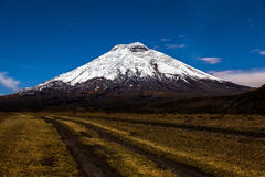 Cotopaxi moonlight Royalty Free Stock Photos