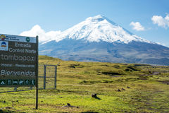 Cotopaxi National Park Entrance Royalty Free Stock Photos