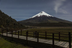 Cotopaxi at night Stock Images