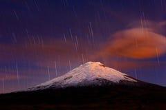 cotopaxi noc wulkan Zdjęcia Royalty Free