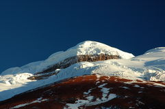 Cotopaxi summit. Mount Cotopaxi on evening,Ecuador Stock Images