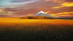 Cotopaxi volcano in the andes of Ecuador, ring of fire