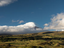 Cotopaxi volcano covered by clouds. Stock Image