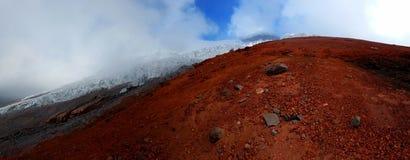 Cotopaxi volcano. Ecuador mountain climbing summit Royalty Free Stock Images