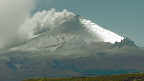 Cotopaxi Volcano Powerful Eruption. Cotopaxi Volcano In Ecuador Powerful Eruption High Pressure Gasses Are Released In The Atmosphere, Real Time Footage stock video