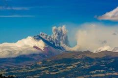Cotopaxi volcano eruption in Ecuador, South Stock Image