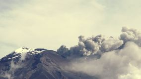 Cotopaxi Volcano Eruption Pan Shot stock video