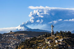 Cotopaxi volcano eruption Royalty Free Stock Image