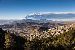 Cotopaxi volcano eruption Stock Photo