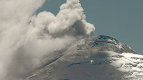 Cotopaxi Volcano Eruption Time Lapse stock video footage
