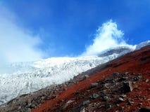 Cotopaxi volcano. Snow ice climbing summit ecuador landscape nature active Royalty Free Stock Image