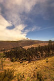 Cotopaxi Volcano Spewing Restive Plumes Of Ash Stock Image