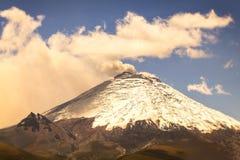 Cotopaxi volcano spews ash and smoke Stock Photos