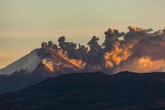 Cotopaxi wulkanu erupcja fotografia royalty free