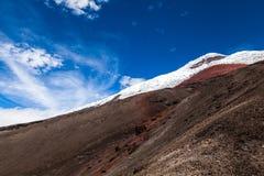 Cotopaxi wulkanu widok zdjęcia royalty free