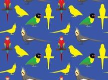 Cotorra rizada 2 del Cockatiel del Macaw del papel pintado del loro stock de ilustración