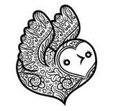 Cotorra rizada - pájaro en forma de corazón Imágenes de archivo libres de regalías