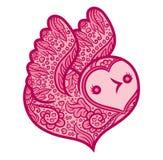 Cotorra rizada - pájaro en forma de corazón Imagen de archivo libre de regalías