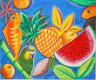 Cotorro wśród spławowych owoc zdjęcie royalty free
