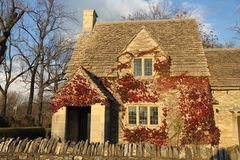 A Cotswald Cottage in Greenfield Village, Dearborn, MI Royalty Free Stock Images