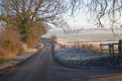 Cotswold风景在冬天 免版税库存图片