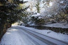 cotswold παγωμένα πρωινά επαρχίας Στοκ Φωτογραφίες