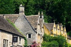 Cotswold buildings, Castle Combe. Royalty Free Stock Photography