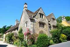 Cotswold buildings, Castle Combe. Stock Photography