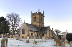 Cotswold church at dawn, England Stock Photos