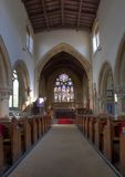 Cotswold church interior Stock Photos