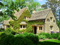 Cotswold Cottage. On the grounds of Greenfield Village  Dearborn, MI Royalty Free Stock Photography