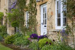 Cotswold cottage flower border Royalty Free Stock Photo
