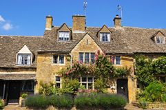 Cotswold cottages, Broadway. Royalty Free Stock Photos