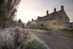 Cotswold cottages in winter Stock Image