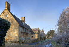 Cotswold cottages in winter Stock Images