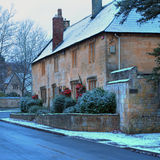 Cotswold Cottages in Winter Stock Photos