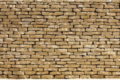 Cotswold dry stone wall Stock Images