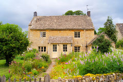 Cotswold house. Typical house with front garden in the Cotwolds of England Royalty Free Stock Photography
