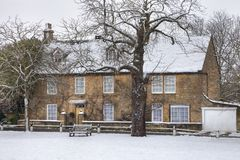 Cotswold house in winter Royalty Free Stock Photo
