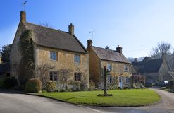 Cotswold houses Stock Photos