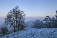 Cotswold landscape in winter Royalty Free Stock Images