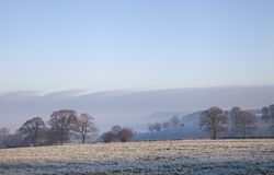 Cotswold landscape in winter Stock Photo