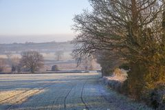 Cotswold landscape in winter Stock Photos
