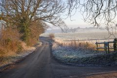 Cotswold landscape in winter Royalty Free Stock Image