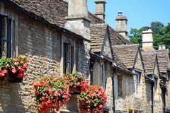 Cotswold stone cottages, Castle Combe. Royalty Free Stock Photography
