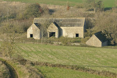 Cotswold Stone Farm Buildings. Abandoned Cotswold Stone Farm Buildings Royalty Free Stock Photo