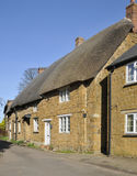 Cotswold Stone Thatched Cottages Royalty Free Stock Image