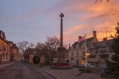 Cotswold town of Chipping Campden at dawn Royalty Free Stock Photo