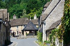 Cotswold village, Castle Combe. Stock Image